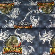 Trikoo Digipainettu  Dinosaurus World